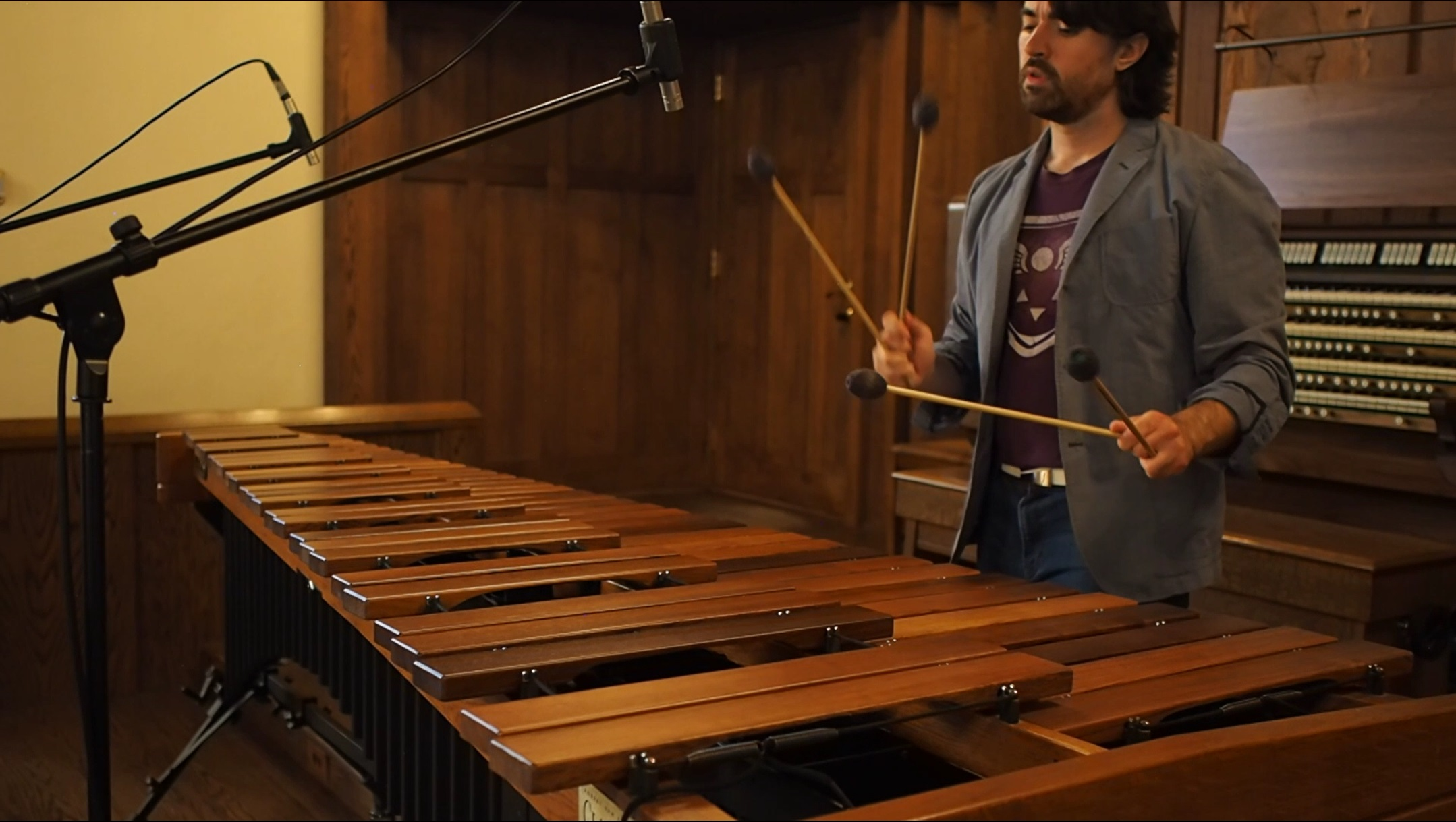 Doug Perry on the Marimba
